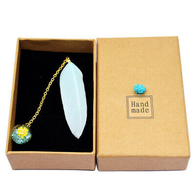 1 Pcs Boxed Colorful Feather Glass Ball Bookmark Retro Book Markers Stationery