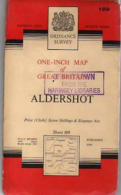 Ordnance Survey  One-Inch Map of Great Britain - Sheet  169 Aldershot, Anon