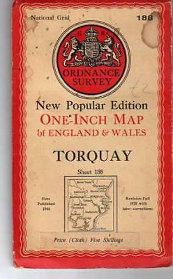 Ordnance Survey  One-Inch Map of Great Britain - Sheet 188 - Torquay, Anon