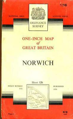 Ordnance Survey  One-Inch Map of England & Wales Sheet  126 Norwich, Anon