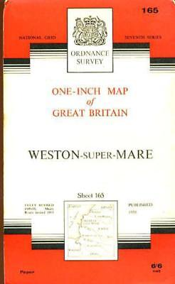 Ordnance Survey  One-Inch Map of England & Wales Sheet  165 Weston-super-Mare, A