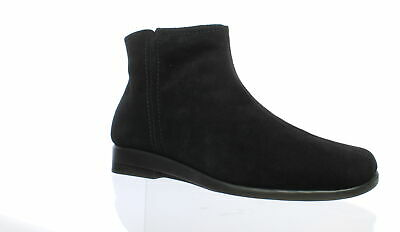 d31239e20 A2 by Aerosoles Womens Double Trouble 2 Black Suede Booties Size 11 (186584)
