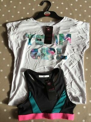BNWT M&S girls sports top and t-shirt 9-10 yrs RRP £19