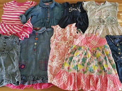 Baby Girls Dress Bundle 1- 2 years Next, Mark and Spencer, Gap 8 Items
