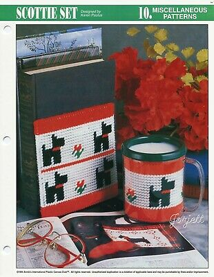 """Snips 5.5/"""" Tall Scrap Can NEW Annie/'s Plastic Canvas Pattern Leaflet"""