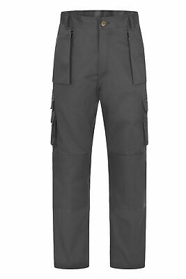 Uneek UC906 Super Pro Mens Work Trousers Knee Pad Pockets Grey