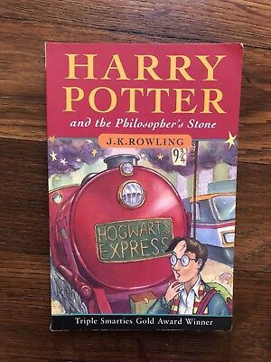 Harry Potter & The Philosopher's Stone by J K Rowling 1997 Paperback,1st Edition