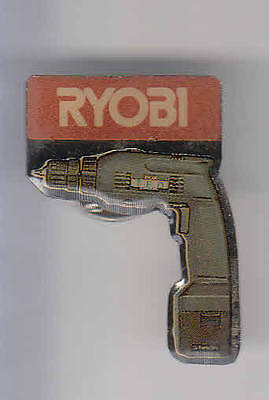 Rare Pins Pin's .. Agriculture Btp Outil Outillage Tool Perceuse Rioby Japan ~Aj