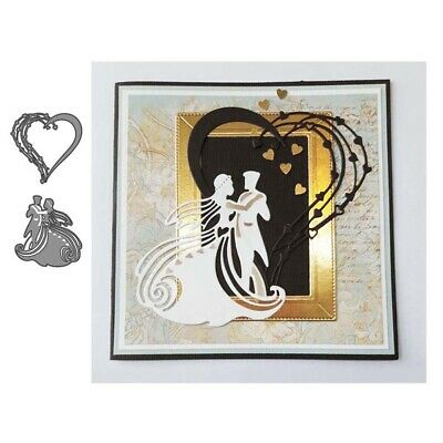 DIY Bride Metal Cutting Dies Stencil Scrapbooking Album Paper Card Embossing