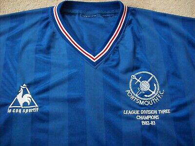 Retro Portsmouth Fc Division 3 Champions 1982-1983 Home Shirt (Xx Large)