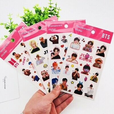 2019 Kpop BTS Bangtan Boys Transparent sticker Phone Stickers Army Goods 10X18CM