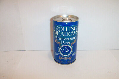 Leinenkugel ROLLING MEADOWS 25th ANNIVERSARY BEER Can WISCONSIN 1//1+ 1980 Gd