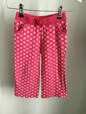 Girls Gorgeous BABY GAP Pink Spot Spotty Jersey Wide Leg Trousers Age 3 Years
