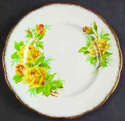 Royal Albert TEA ROSE YELLOW Dessert Pie Plate 620034
