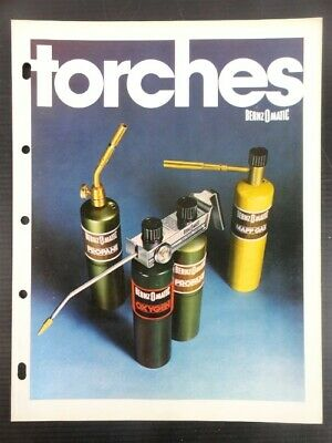 """1978 Vintage Bernz-O-Matic """"TORCHES"""" Collectible Jobbers Catalog and Sell Sheet"""