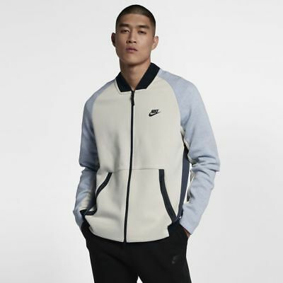 NIKE TECH FLEECE Varsity Destroyer College Jacke Rot Größe