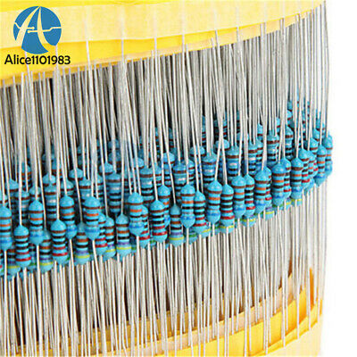 1/4w Resistance 1% Metal Film Resistor Bag Each 20pcs 30 kinds Total 400/600pcs