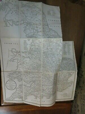 1828 NEW ITINERARY by CARY GREAT ROADS 7 MAPS WIGHT BRIGHTON CHELTENHAM LONDON @