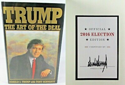 President Donald J. Trump ✎SIGNED AUTOGRAPHED ✎The Art of the Deal Book NICE!