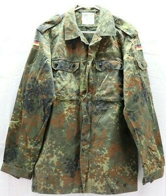 231f4888b31f5 German flecktarn Shirt Jacket w zipper size 100/gr17 US medium sleeve 26