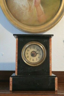 Antique Slate and Marble Clock , working