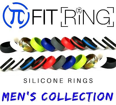 Silicone Wedding Ring by Fit Ring   Men's Flexible Rubber Engagement Bands