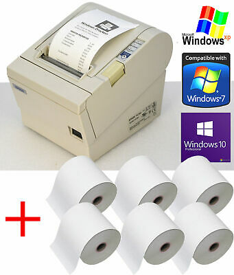 USB+Seriel Receipt Printer Epson Tm-T88iii Gastro Checkout Retail 6 x Bonr 88-4