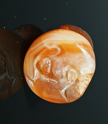 Rare Old Antique Carnelian Intaglio Deer Stamp Ancient Angkor Bead pendant