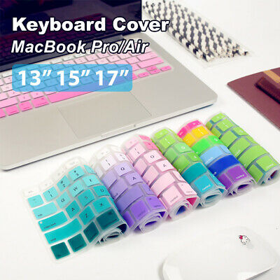 "Silicone Keyboard Cover Case Protector For MacBook Air/Pro 13"" 15"" 17"" Touchbar"