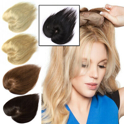 Clip in 100% Human Hair Top Topper Toupee Cover Hairpiece Wig Women AU Stock