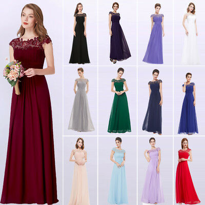 3ad97f4844e7 US Ever-Pretty Womens Long Bridesmaid Dress Lace Beaded Evening Prom Gown  09993