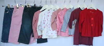 Baby Girls Size 1 Lot Esprit BeBe Sprout Jeans Tops Rhubarb Target #G139