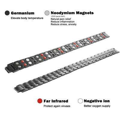 Therapeutic Energy Bracelet Magnet Therapy Bracelet Health Care Men Style HS1302