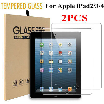 9.7inch 9H Anti-Scratch Screen Protector Tempered Glass Film For iPad2/3/4 2Pcs