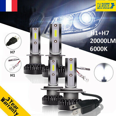 H1 & H7 110W 20000LM CREE LED Ampoule Voiture Feux Lampe Kit Phare Xenon 6000K