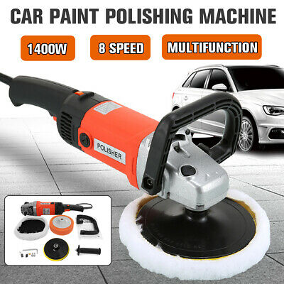 1400w Car Polisher Sander Buffer Polishing Machine Waxer 8 Variable Speeds Tool
