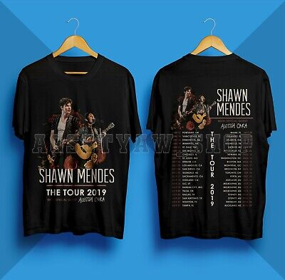 704b2e392 Shawn Mendes T-Shirt The Tour 2019 Concert Dates Gildan Black Shirt Size S-