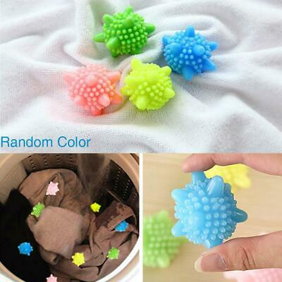 4PCS/Lot Reusable Tumble Laundry Wash Dryer Balls Clothes Scrubber Soften Fabric