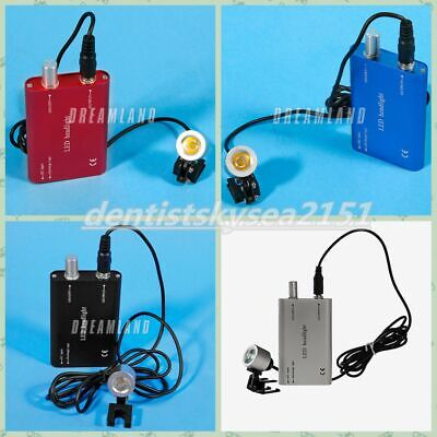 4 Color LED Dental Surgical Head Light Lamp with Clips Headlight for Loupes