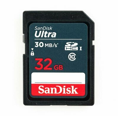 SanDisk 32Go Ultra Class 10 UHS-I U1 SD 30Mo/s Full HD Video SDHC Carte mémoire
