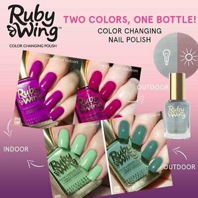 RUBY WING COLOR CHANGING NAIL POLISH: Distributor Clearance NEW & FREEPOST AUST