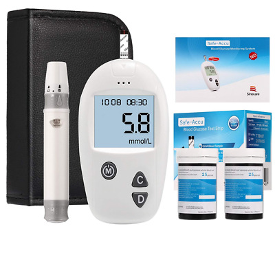 UK Blood Glucose Monitoring System Sugar Test Kit Diabetic Health Aid Glucometer