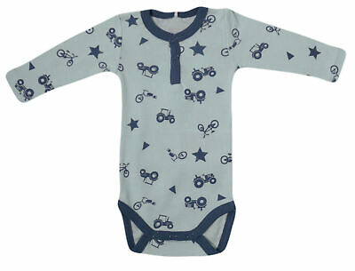 Baby BODY Name It Kinder Jungen langarm Einteiler blau