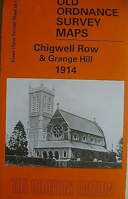 Old Ordnance Survey Maps Chigwell & Grange Hill Essex 1914 Godfrey Edition