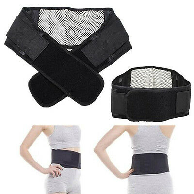 Infrared Magnetic Back Brace Posture Belt Lumbar Support Lower Pain Massage DB