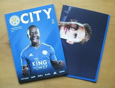 LEICESTER CITY v WEST HAM UNITED 2018/2019 Football Programme + Poster