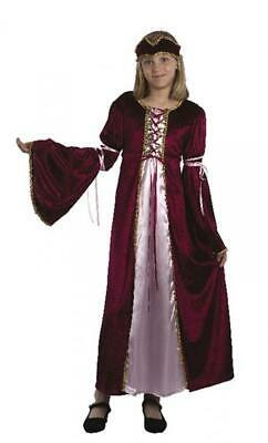 Girls Medieval Renaissance Princess Fancy Dress Costume Book Week