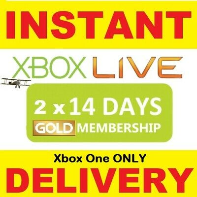 Xbox Live Gold 1 MONTH Membership D Code ( 2 x 14 DAY ) Microsoft Xbox One / 360