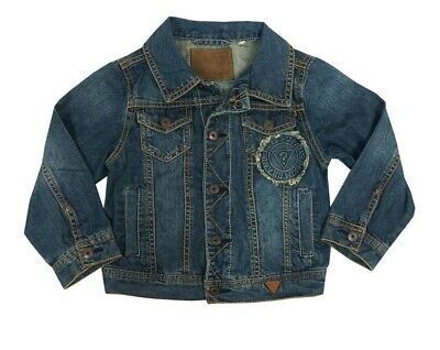 Guess Blue Cotton Denim Jacket Toddler Little Boys Small (4)