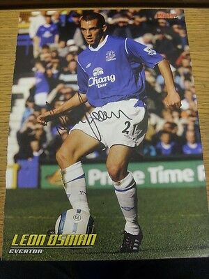 90-2000's Autographed Magazine Picture A4: Everton - Osman, Leon. We try and ins